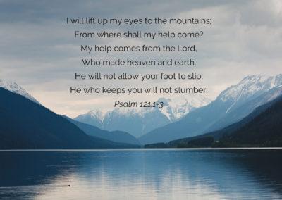 Psalm 121: 1-3