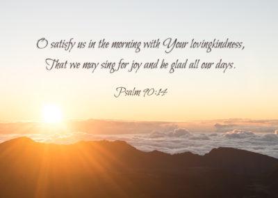 Psalm 90: 14
